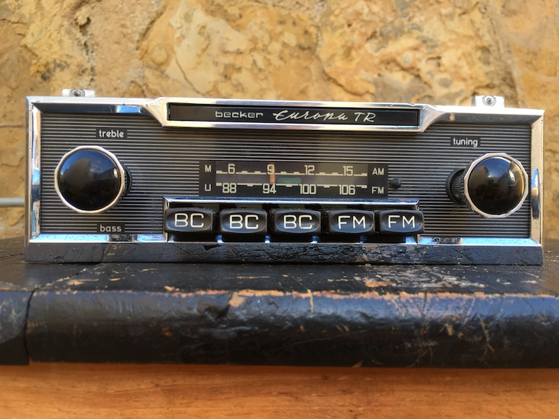 becker europa tr classic radio very rare in this condition original classic car radios. Black Bedroom Furniture Sets. Home Design Ideas