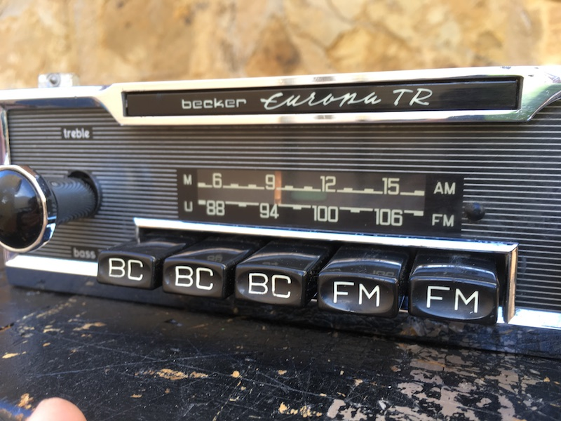 Becker Europa TR classic radio   Very rare in this condition