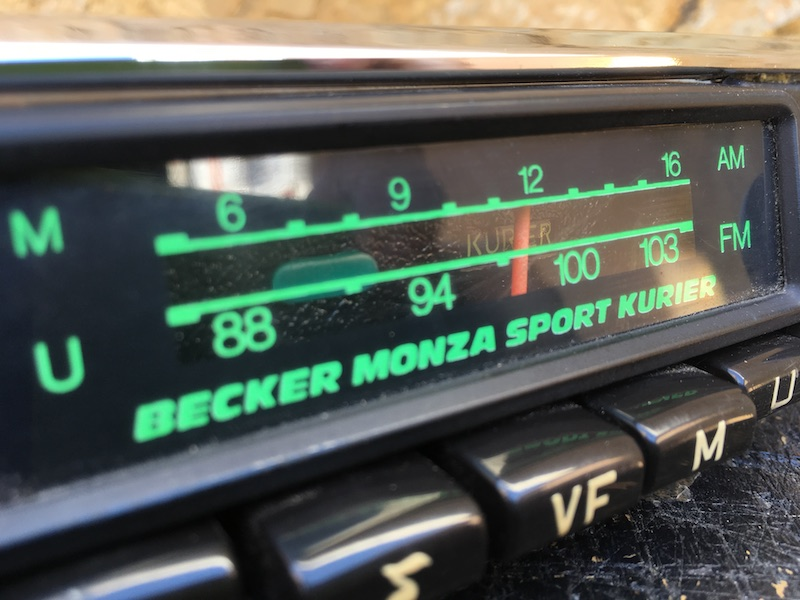 Becker Monza Sport Kurier - rare | Original classic car radios.
